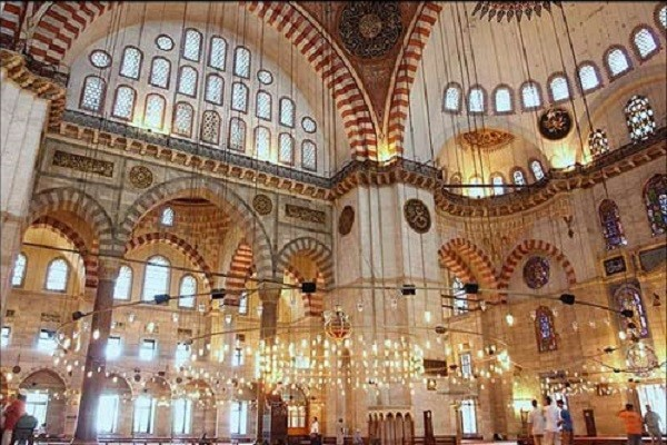 سالن-مسجد-سلیمانیه-استانبول