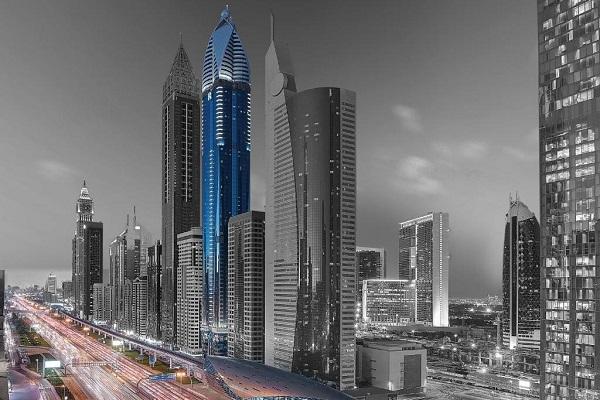 نمایی زیبا از هتل رز ریحان دبی